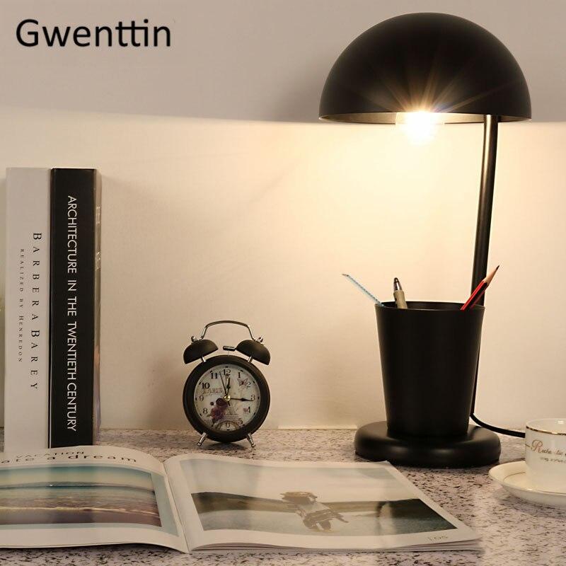Чехол для ручки современная светодиодная настольная лампа для учебы, чтения, спальни, детская лампа, Скандинавское железо, настольная лампа... - 2