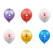 12inch Microphone Latex Balloons Happy Birthday Balloon Party Decoration Helium Balloon Wedding Decoration Party Balloons Globos 12inch gold latex balloons heart foil balloons confetti balloon patry balloons wedding birthday party decor globos supplies