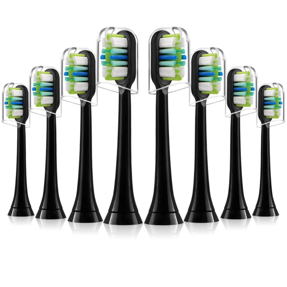 8pcs Replacement Toothbrush heads for Phillips Sonicare, Compatible with DiamondClean ProtectiveClean GumHealth Black Brush Head image