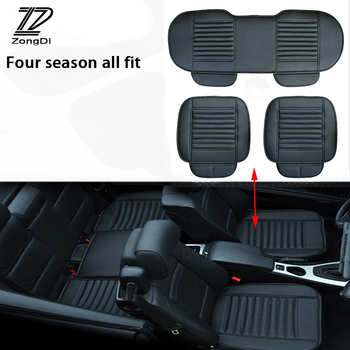 ZD 2018 NEW Pu Leather Car Styling Seat Pad Cushion Covers For Kia Rio 3 K2 Ceed Toyota Corolla 2008 Avensis C-HR RAV4 Mazda 3 6 image