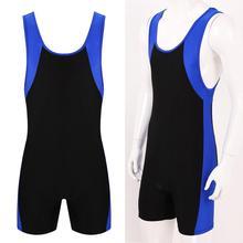 Mens Bodysuits Undershirts Sports Gym Bodybuilding Jumpsuits Leotard Wrestling Singlet Bodysuits Shorts Seamless Pouch Underwear