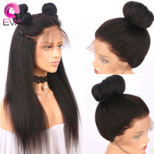 Eva волосы 150% Yaki прямые 4,5*4,5 шелковая основа полный шнурок человеческие волосы парики предварительно выщипанные волосы remy парик с детскими волосами для черных женщин
