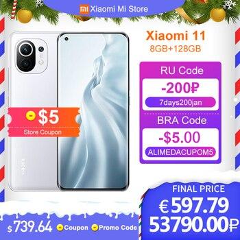 Chinese Verion Xiaomi Mi 11 8GB RAM 128GB ROM Smartphone Snapdragon 888 Octa Core 108MP Rear Camera 55W Fast Charge 4600mAh