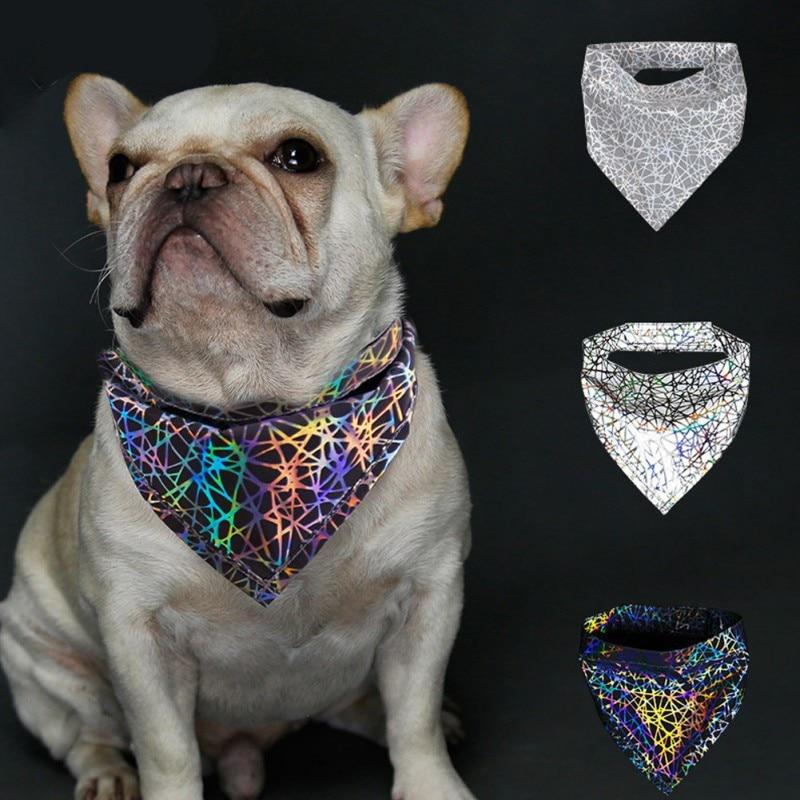 Colorful Fashion font b Pet b font Cats Dogs Reflective Bandana Bibs Scarf Collar Night Safety