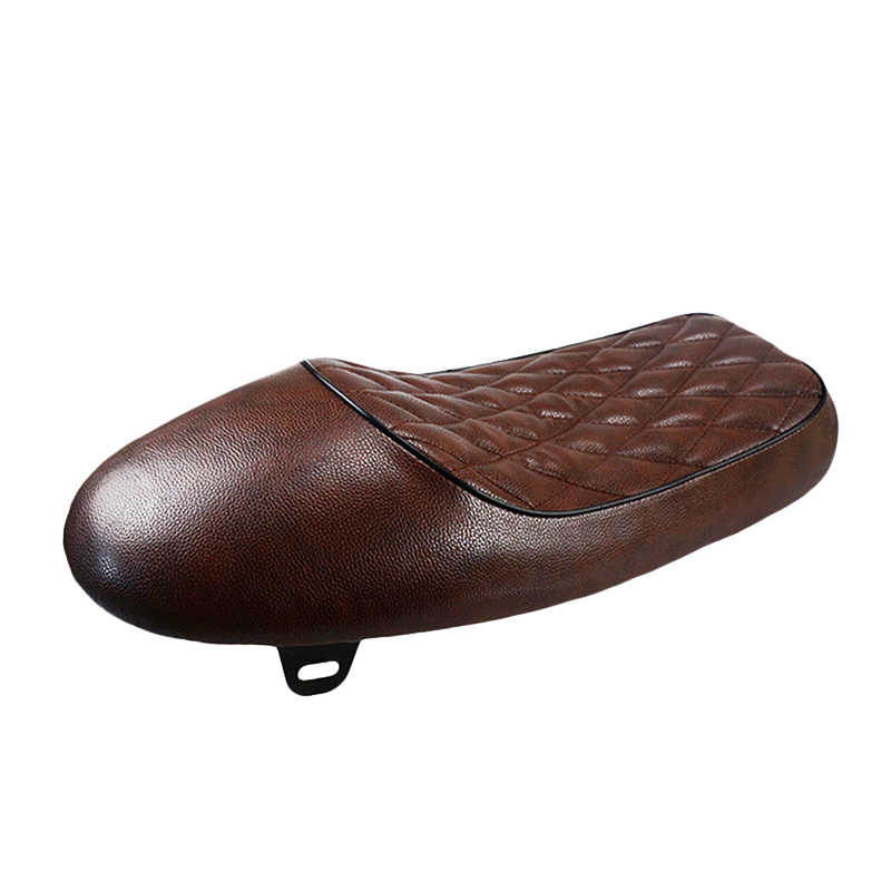 חום אופנוע קפה רייסר מושב מותאם אישית בציר דבשת אוכף שטוח מחבת רטרו מושב עבור ימאהה XJ הונדה CB CL סוזוקי GS KTM BMW וכו'