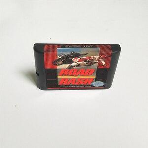 Image 2 - Road rash usaカバーとリテールボックス 16 ビットmdゲームカード用メガジェネシスビデオゲームコンソール