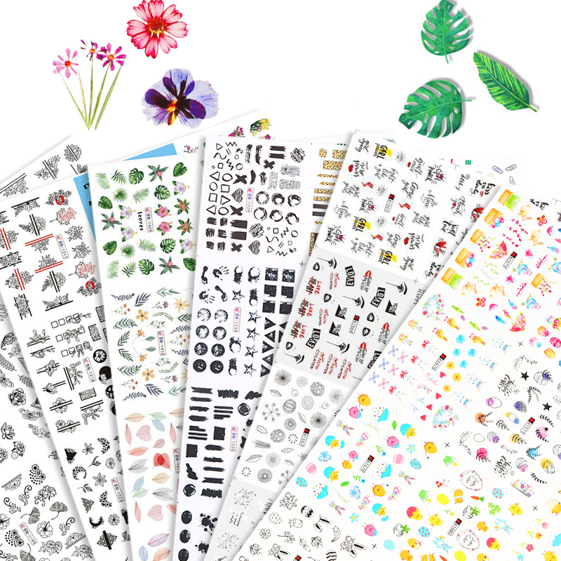 12 Designs Fruit <font><b>Nail</b></font> <font><b>Stickers</b></font> Set Mixed Floral Geometric <font><b>Sexy</b></font> Girl <font><b>Nail</b></font> Art Water Transfer Decals Tattoos Sliders Manicures image