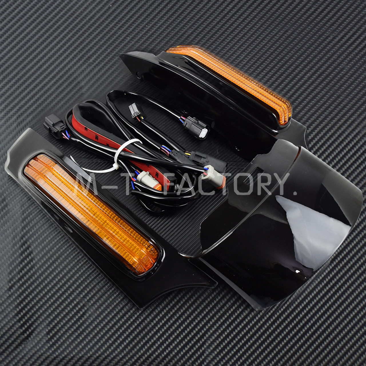 Image 2 - Motorcycle LED Light Rear Fender Extension Fascia Set For Harley Touring Electra Road Glide 2014 Up FLTRXS Ultra Limited FLHXCovers & Ornamental Mouldings   -