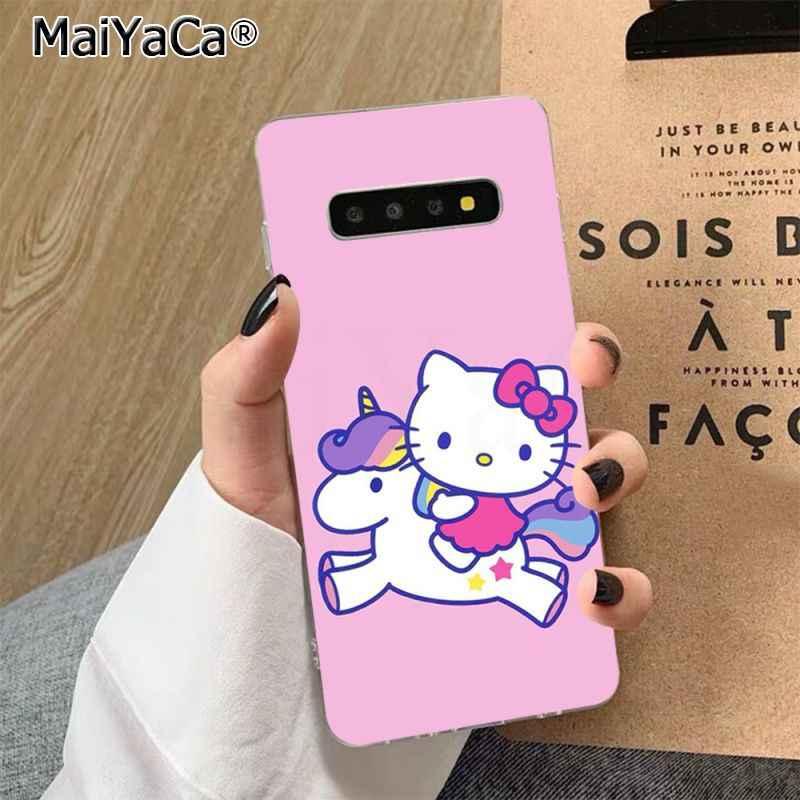 MaiYaCa Hot Thời Trang Hello Kitty Đen Cao Cấp Điện Thoại Dành Cho Samsung S7 EDGE S8 S9 S10 S20 PLUS s10 LITE S10 5G