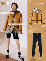 Faux Fur Coat Female Leather Jacket Korean Vintage Autumn Winter Coat Women Clothes 2020 Loose Warm Tops Manteau Femme ZT4616