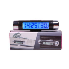 Auto Liefert Air Outlet Thermometer Elektronische Uhr-in-LED Digital Thermometer Blau Hintergrundbeleuchtung K01(China)