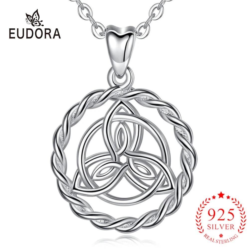 Trinity Necklace in Fine Silver