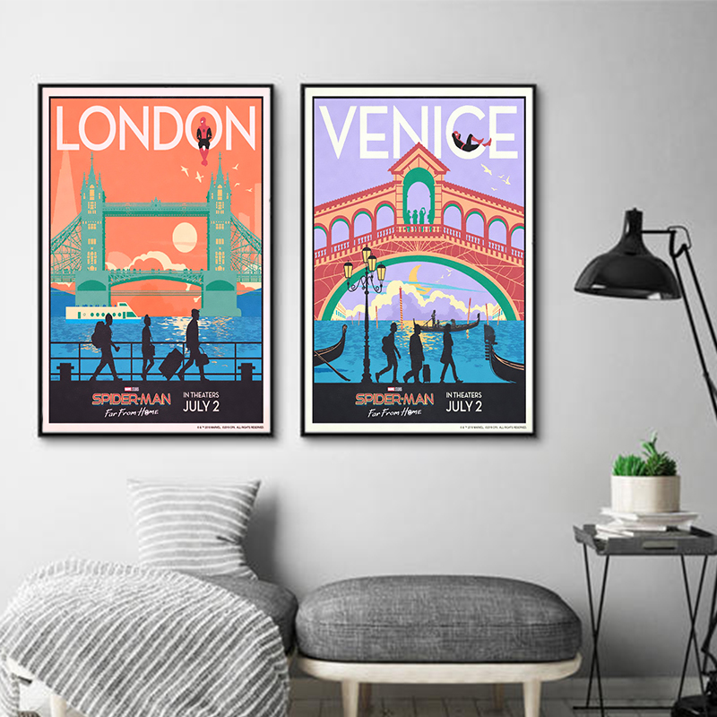 Berlin Venice London Prague Vintage Travel Wall Art Wall Painting Wall Pictures For Living Room Decor Pictures Unframed Painting Calligraphy Aliexpress