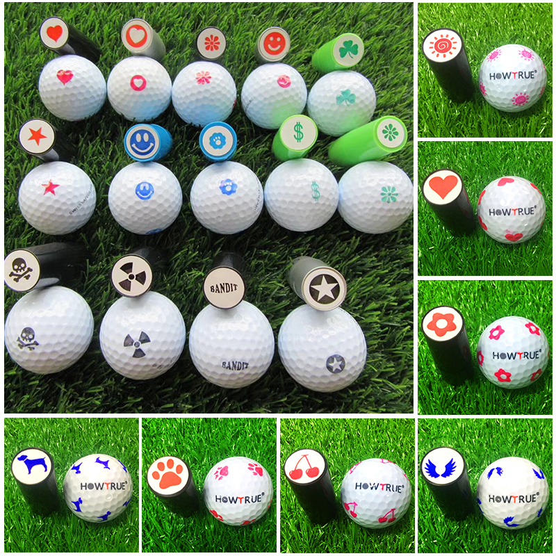 Quick-dry Plastic Golf Ball Stamper Stamp Marker Golf Club Accessories Symbol Golfer Souvenir Gift Golf Ball Stamp Sports Fitnes