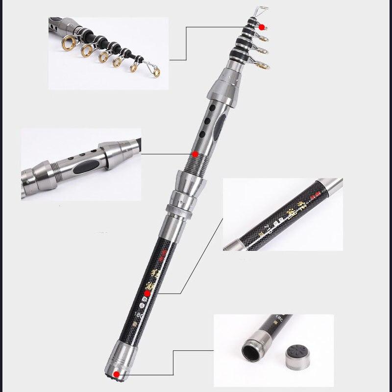 Black 1.5m Sea Fishing Rod Mini Telescopic Fishing Rod Pole Fishing Tackle Tools