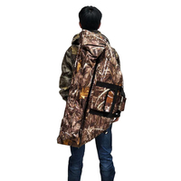 Large Archery Canvas Compound Bow Bag Holder with Outside Arrow Pocket & Inside Pulley Pocket