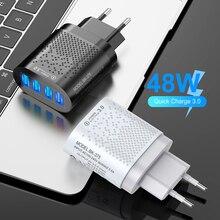 Floveme usb carregador 48w ue/eua carregador de telefone carga rápida 3.0 para iphone 12 11 3a chargeing rápido para xiaomi carregador de telefone móvel