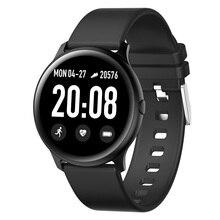 Nowy sport wodoodporny inteligentny zegarek kobiety inteligentna bransoletka z Bluetooth tętno Tracker do monitorowania aktywności fizycznej męski Smartwatch dla androida