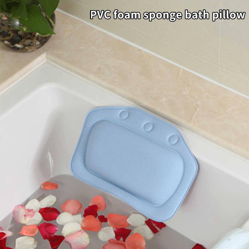 Kafalık otel köpük dolum banyo yastığı PVC Spa boyun desteği yumuşak ev Sauna odası gevşeme omuz banyo salonu küvet