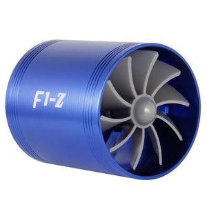 Image 5 - Ładowarka samochodowa turbina F1 Z Turbo ładowarka pojedynczy podwójny filtr wlotowy powietrza wentylator zestaw oszczędzania paliwa gazowego część zamienna