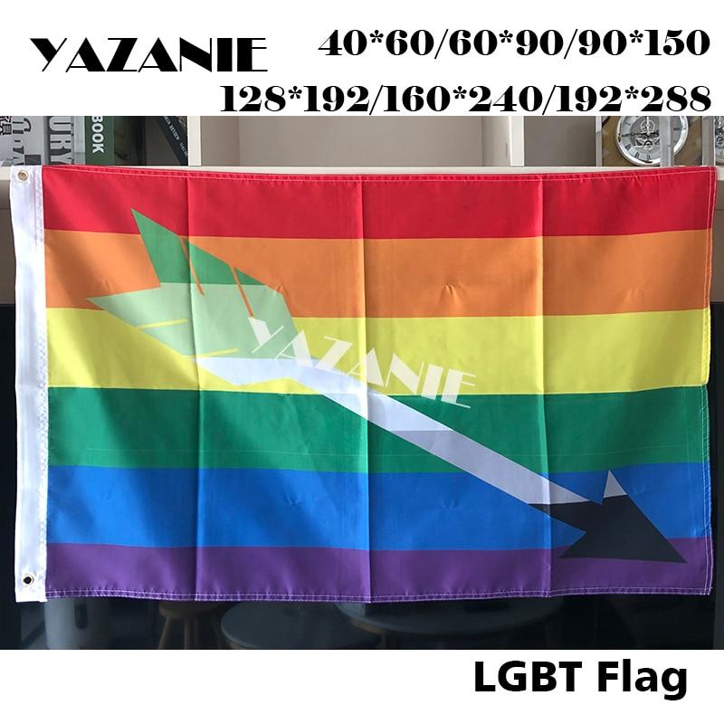 YAZANIE любой размер гей ароматическая стрела комбо гордыня флаг полиэстер Радужный Флаг Большой ЛГБТ гордыня наружные флаги и баннеры