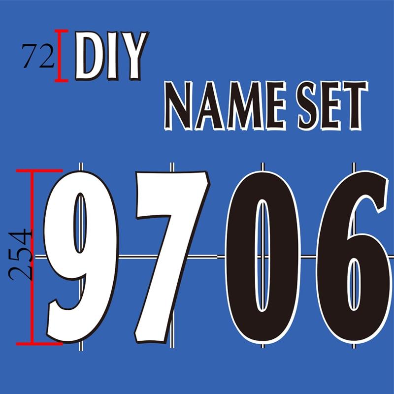 England  Premier League  97-06 White Black   Name Number Set  Or DIY Nameset