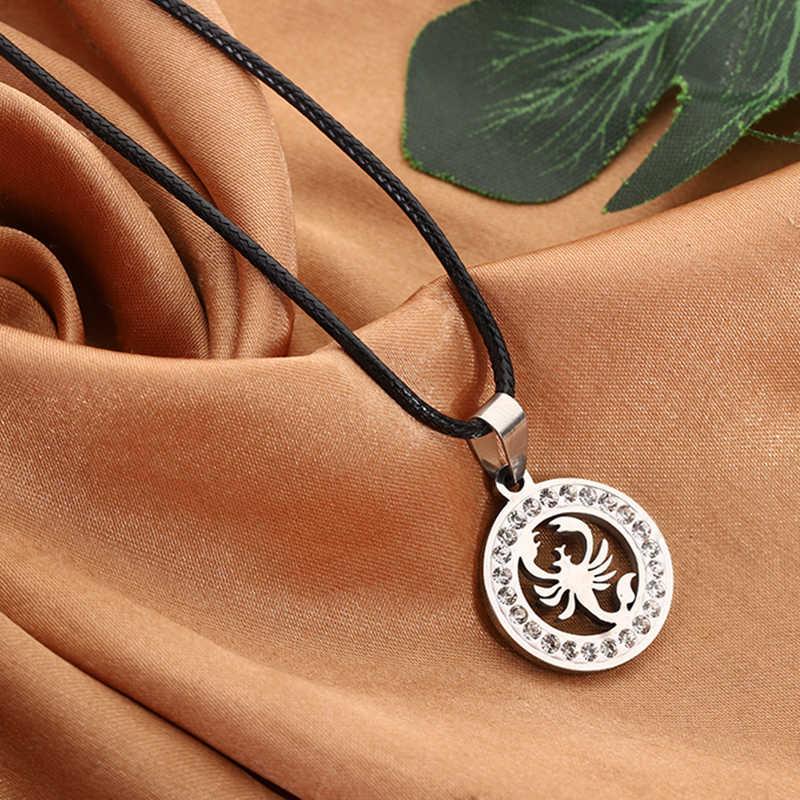 Bijoux en acier inoxydable couleur argent cristal breloque Scorpion pendentif pour hommes femmes cadeaux