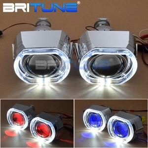 Image 1 - Lentilles pour phares ange diable Eyes Mini LED H1 projecteur 2.5 pouces Bixenon lentille Tuning H7 H4 voiture lumières accessoires rénovation