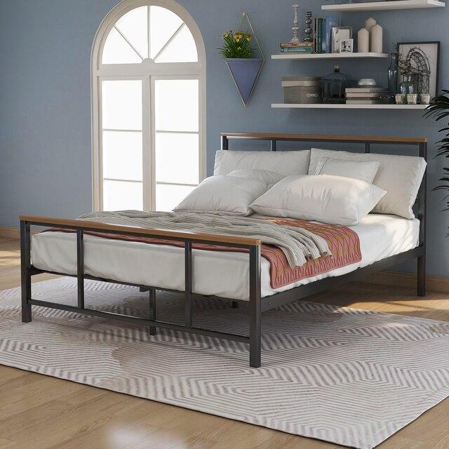 Metal Platform Bed Frames w/ Headboard & Footboard 3