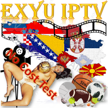 IPTV EXYU EPG Europa Global caja de TV inteligente PC estable ios Android M3U Enigma2 MG XXX código Panel revendedor HD FHD HEVC 4k(China)