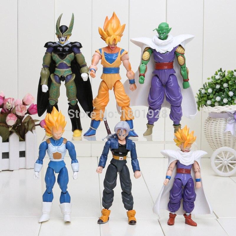Dragon Ball Z Joint Movable Vegeta Piccolo Son Gohan Son Goku Trunks Gogeta PVC Action Figure Toys