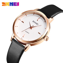 SKMEI Top Brand Fashion Women Watches Leather Female Quartz Wristwatches Ladies Thin Casual Strap Watch Waterproof watches 1457 цена