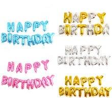 YOOAP счастливые баннеры на день рождения 18 дюймов вечеринку украшения поставки письмо фольгированные шары баннеры детей на день рождения взрослого