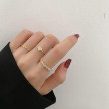 Mengjiqiao корейский модный дизайн изящные циркониевые кольца