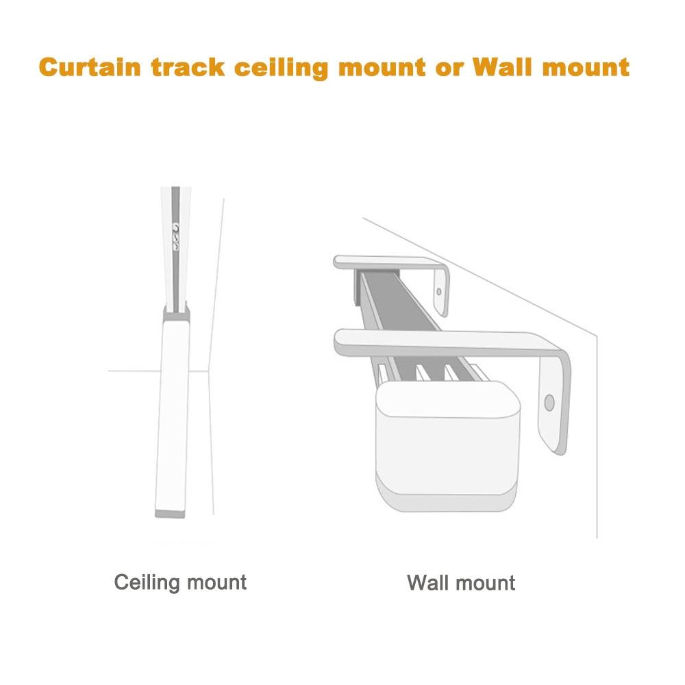 Купить с кэшбэком Super Quiet Customizable Electric Curtain track for aqara motor, Super Silent Curtain rail For aqara B1 motor For Smart Curtains