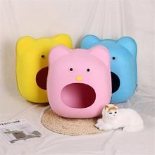 Cat Bed Cave Sleeping Bag Zipper Shape Felt Cloth House For Cats Basket Bags Animals Nest Cushion Pet Supplies 5