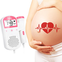 Digital portátil fetal doppler monitor de freqüência cardíaca do bebê melhor feto monitor ultra-som máquina pré-natal vascular bater fone de ouvido 2.5m