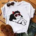 Kawaii Mafalda футболка с милым мультяшным принтом женские повседневные белые топы Vogue футболка с коротким рукавом Графические футболки женская о...