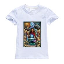 Disney Cartoon Child T Shirt Raya and The Last Dragon Printing Clothes Anime Figures Clothing Boys Girls Toddler Tops Cute Tees