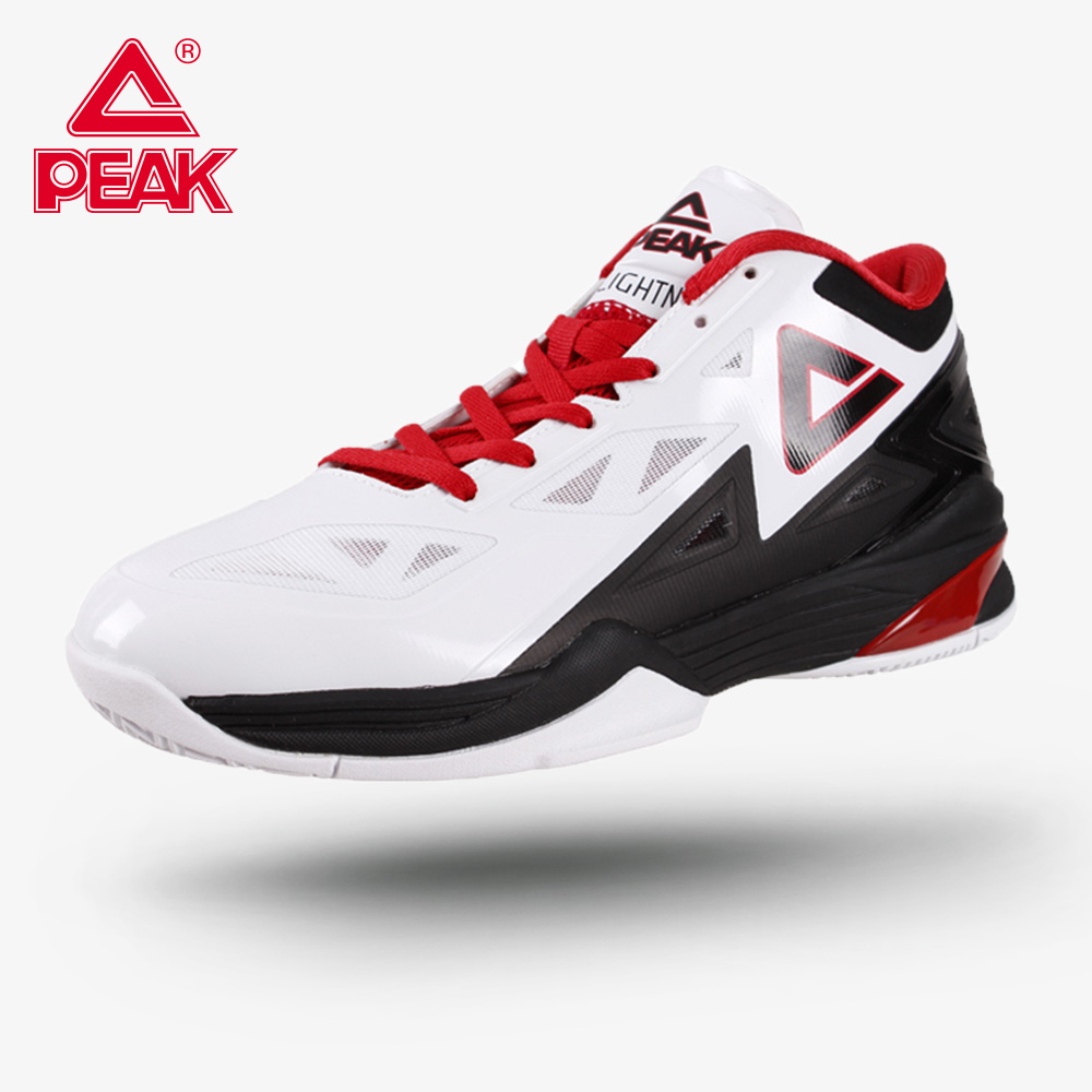 US $45.53 50% OFF|PEAK Men's Basketball Shoes George Hill Lightning II Professional Outdoor Safety Drop in Cushioning Basketball Sport Sneakers in