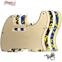 Pleroo Guitar Parts - For  US 8 Mounting Screws Hole Tele Standard Guitar pickguard pleroo custom guitar parts for us standard jazzmaster style guitar pickguard scratch plate replacement electric guitar