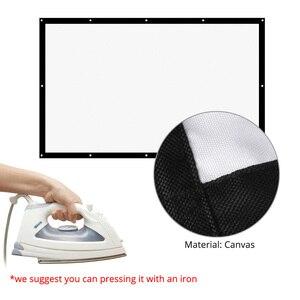 Image 3 - شاشة عرض الإسقاط من thundal مقاس 16:9 100 120 150 بوصة شاشة ستارة بيضاء من القماش شاشة عرض ثلاثية الأبعاد محمولة على الحائط