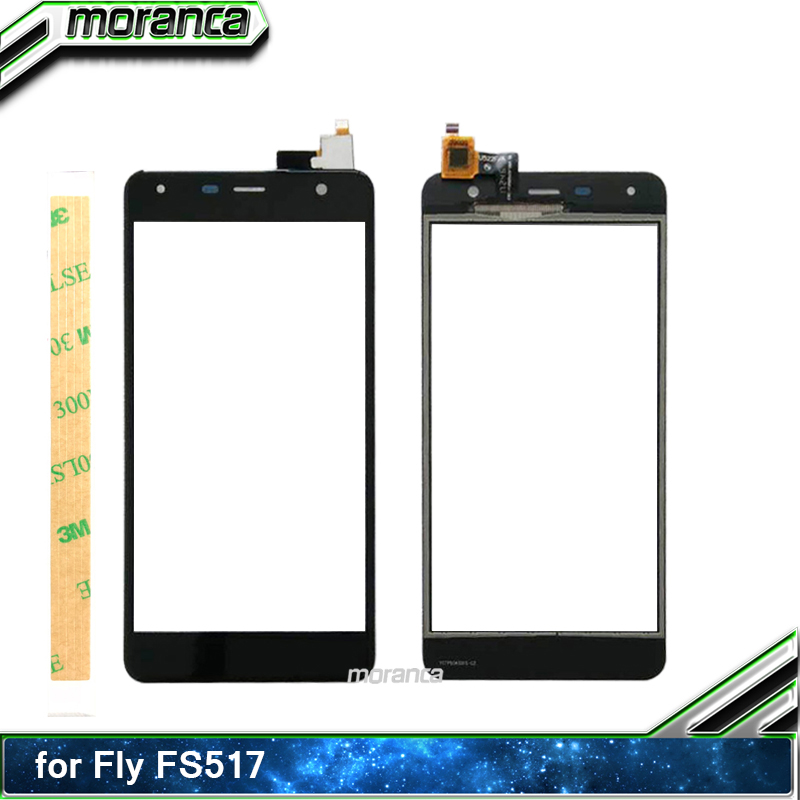 5.0'' Phone <font><b>Touch</b></font> for Fly <font><b>fs517</b></font> cirrus 11 FS 517 <font><b>Touch</b></font> Screen Digitizer Sensor Touchscreen Panel Front Glass Lens +3M Sticker image