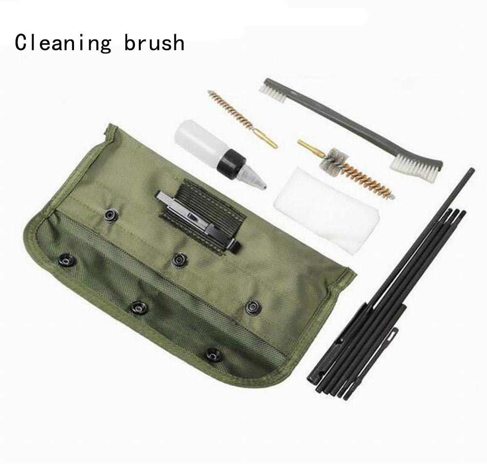 10 Pcs AR15 M16 M4 Gun Cleaning Kit Airsoft Senapan Pistol Pembersih untuk 5.56 Mm. 223 22LR. 22 Cal Taktis Senapan Gun Set Kuas