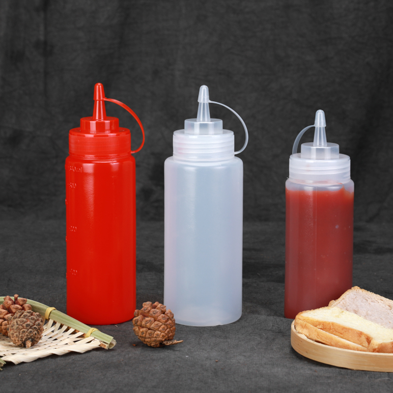 1PCS Empty Squeezable Plastic Bottle With Twist On Cap For Olive Oil,Salad,cream,Honey Eco-Friendly Durable Container