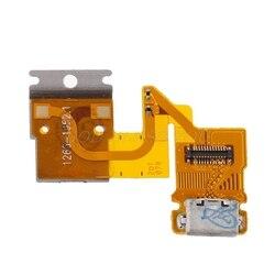 Usb porto de carregamento conector cabo flexível para sony xperia tablet z sgp311 sgp312 sgp321 transporte da gota