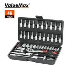 ValueMax Hand Tool Sets Car Repair Tool Kit Set Mechanical Tools Box for Home 1/4-inch