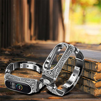 Cinturino in pelle per Xiaomi Mi Band miband 3 4 5 cinturini retrò cinturino cinturino con cinturino intrecciato di ricambio intrecciato