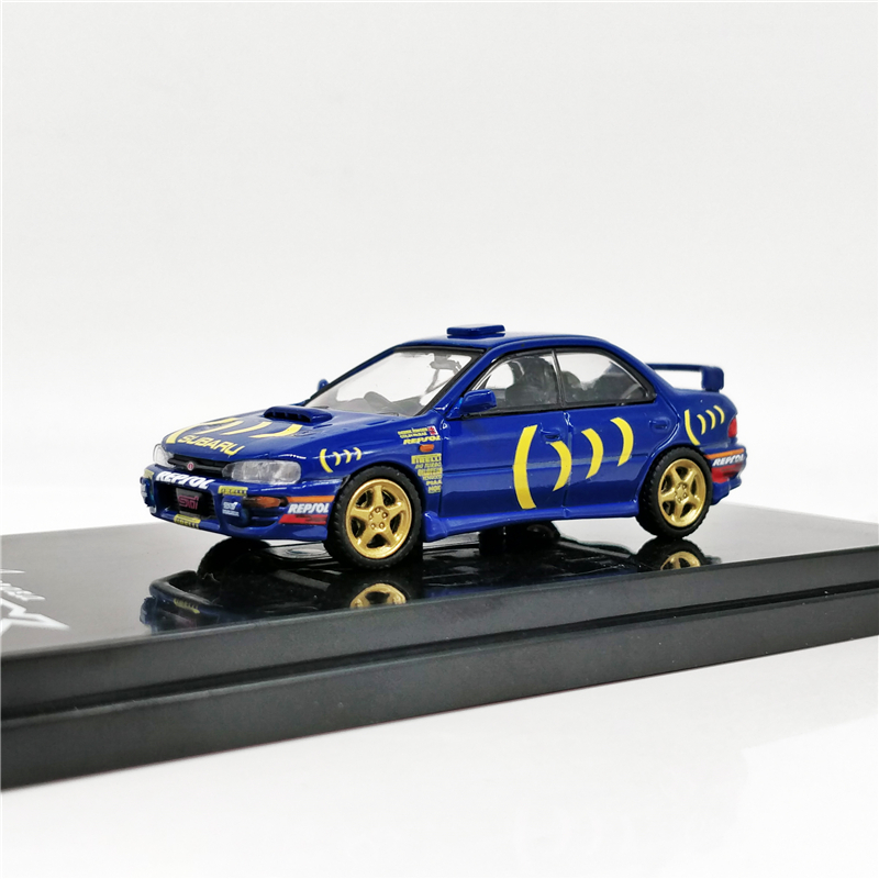 1:64 Hobby Japan SUBARU IMPREZA WRX (GC8) STi Version II Sports Blue Rally Cars Diecast Model Car