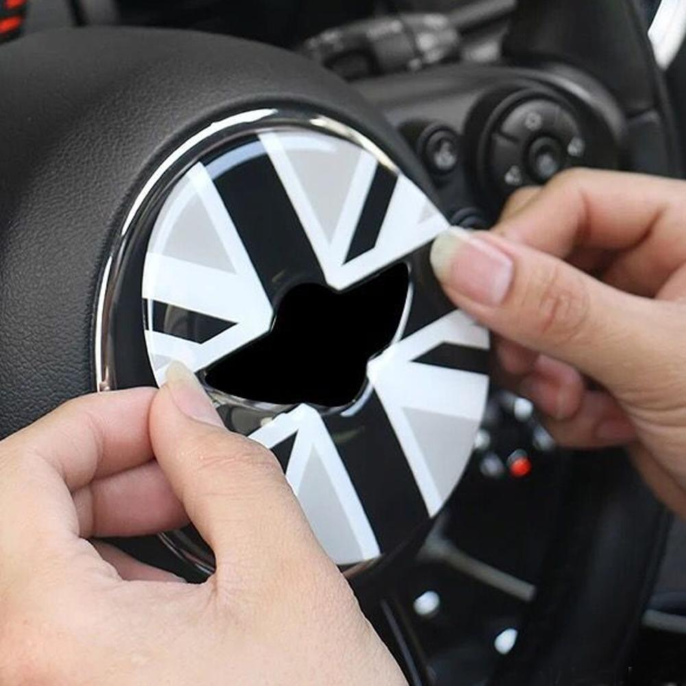 3D Steering Wheel Sticker For Mini Cooper F55 F56 Car Steering Wheel Center Sticker Cover Car Styling Interior Decorations